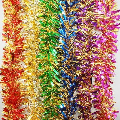 10 piece Two Tone Thick Luscious Christmas Tinsel