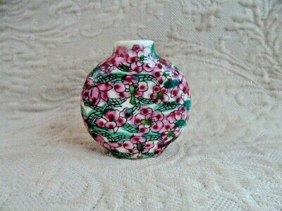 Hand Painted Ceramic Snuff Bottle