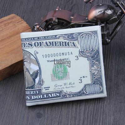New Synthetic Leather Dollars Printed Wallet Purse Organizer Wallet Card LEBB