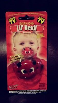 nw billy bob tv halloween lil devil pacifier red authentic baby costume collect