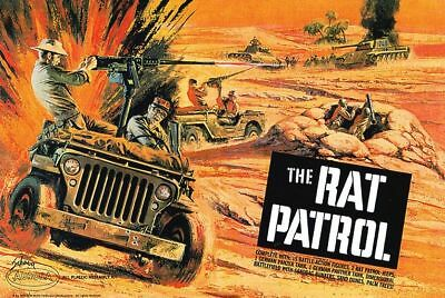 Aurora The Rat Patrol US Army Jeep War Scene Sticker or Magnet
