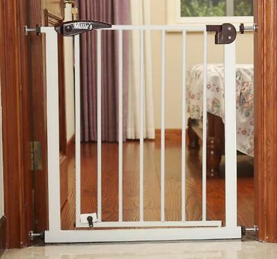 NEW Millie's  WHITE DELUXE STAIR GATE BABY SAFETY BARRIER GATE, PRESSURE FIX