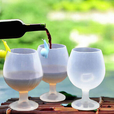 Silicone Wine Glass Unbreakable Outdoor Camping Stemless Beer Whiskey Cup