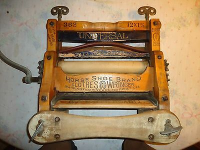 Antique American Wringer Co. Horseshoe Brand Clothes Wringer,universal,pat.1888