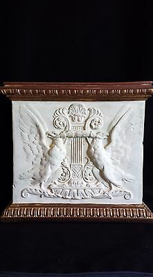 Extremely Rare Antique Italian Dini Cellai Signa High Relief Terracotta Planter