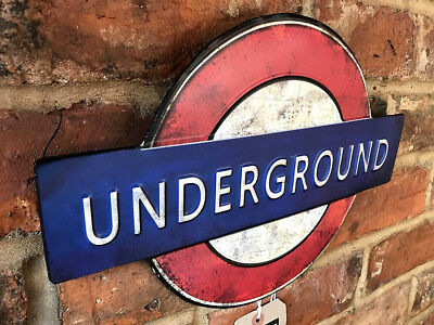 Vintage Metal Transport For London Underground Tube Wall Art Door Plaque Sign A