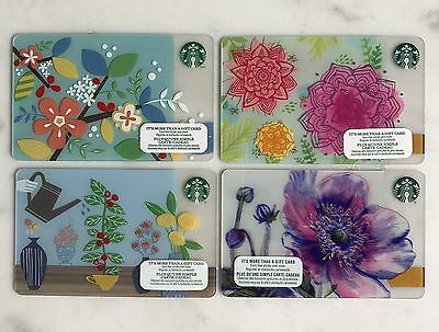 Starbucks card Canada Spring 2014 2015 2015 2017 - lot of 4 cards