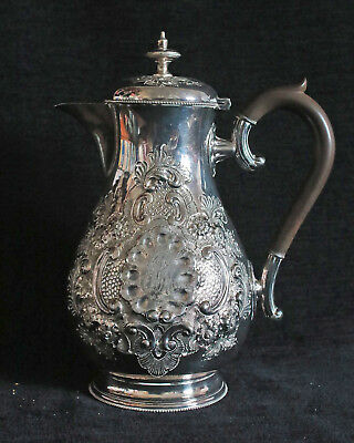 A Victorian Silver Plated  Coffee Pot. Beautifully  Chased & Repousse worked.