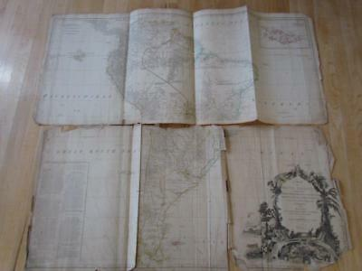 ANTIQUE 1794 SOUTH AMERICA MAP by LAURIE & WHITTLE, BRASIL,PERU,CHILI & MORE