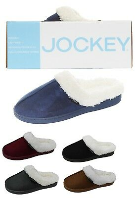 Jockey Women's Lenore Cozy Plush Memory Foam Faux Shearling Clog Slipper