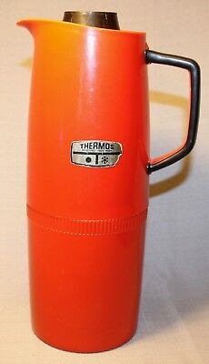 Vintage Thermos Large Red Model 71Q Made In England Rare +