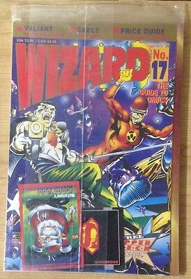 1993 Wizard Magazine #17, w/ Cards Bloodshot Archer & Armstrong Sealed Polybag