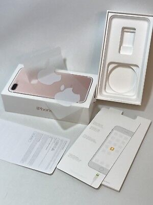 Apple iPhone 7 Plus Gold 32GB EMPTY OEM BOX Original Box Only w Stickers/Papers