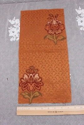 "Rare French 17th Or 18thC Silk Brocade Fabric Sample~17""L X 8""W"