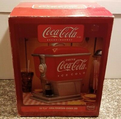 Coca-Cola Soda Fountain Cookie Jar by Gibson - New in Box - Collectible Coke