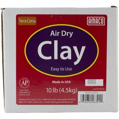 NEW AMACO Air Dry Modeling Clay 10 Pound Terra Cotta FREE SHIPPING