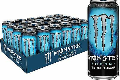 NEW Monster Energy Drink Absolutely Zero 16 Ounce Pack of 24 FREE SHIPPING