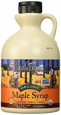 NEW Coombs Family Farms 100% Pure Organic Maple Syrup Grade B 32 oz.