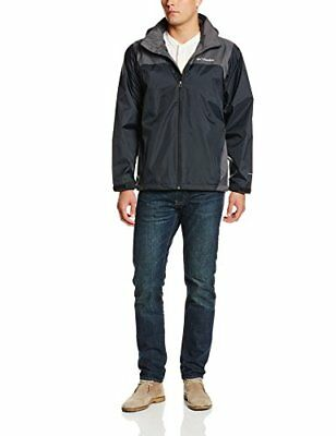 NEW Columbia Mens Glennaker Lake Packable Rain Jacket Black Grill Large