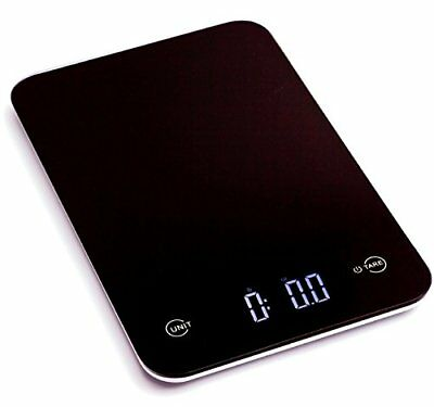 Ozeri Touch Pro Digital Kitchen Scale 12 lbs Edition Tempered Glass in Black