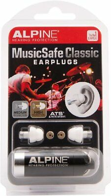 NEW Alpine Hearing Protection MusicSafe Classic Earplugs for Musicians