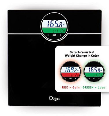 Ozeri ZB21 WeightMaster 400 lbs Digital Bath Scale with BMI Weight Change Black