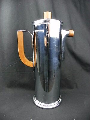 Vintage Art Deco Manning Bowman Esquire Martini Cocktail Shaker Walnut Handles