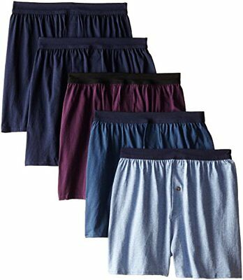 NEW Hanes Red Label Mens 5 Pack Knit Comfortsoft Boxers Assorted Large