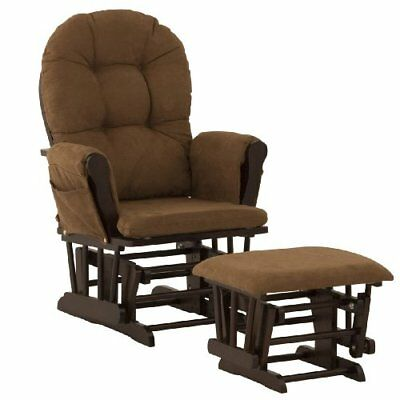 NEW Stork Craft Hoop Glider and Ottoman Espresso Chocolate FREE SHIPPING