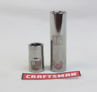 Craftsman Easy Read Socket 6 or12pt MM or SAE 3/8 or 1/2 Drive Standard or Deep