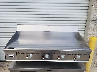 """Keating 60"""" Miraclean Chrome Top Thermastatic Gas Griddle Flat Grill 60X30Fld"""