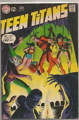 Teen Titans #19 DC 1969 Silver Age Comic FN+/VF- (Speedy Joins/Wally Wood Inks)