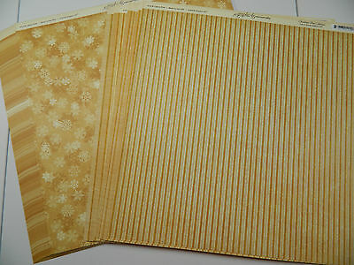 Graphic 45 Scrapbook Paper 12x12 Christmas Past Let It Snow Lot 50 Double Sided