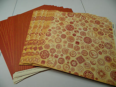 """Graphic 45 Scrapbook Paper 12x12 """"Buttons Al A Mode"""" Lot of 50 Double Sided!!"""