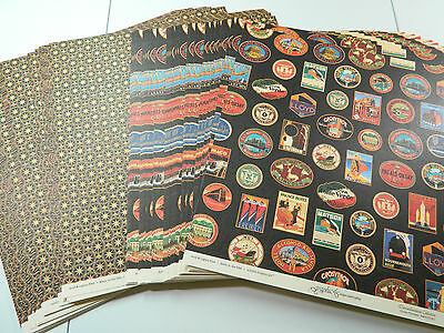 Graphic 45 Scrapbook Paper 12x12 Globe Trotter Lot of 50 Double Sided Sheets!!