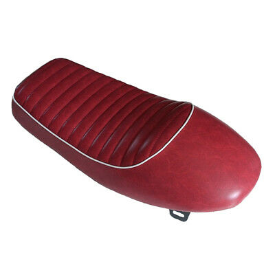 Cafe Racer Retro Hump Red Seat Waterproof Universal for Motorcycle