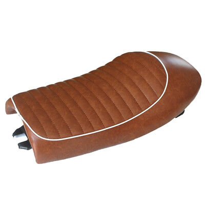Cafe Racer Retro Hump Light Brown Seat Waterproof Universal for Motorcycle