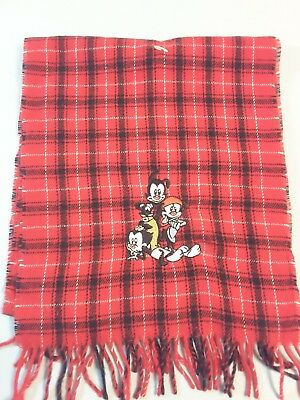 Vintage Warner Brothers Studio store Animaniacs 1995 red scarf !NEW! AM1022