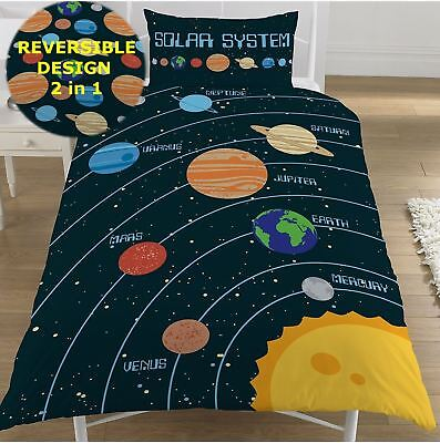 NEW OFFICIAL Solar System Planets Single Double Duvet Quilt Cover Bedding Set UK
