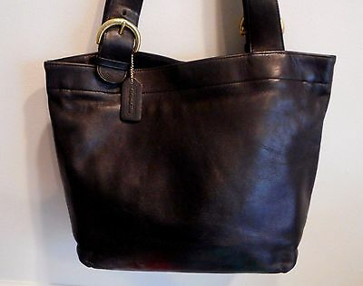Vintage Coach,Lafayette, Black Leather Tote Bag Made in the United States #4140