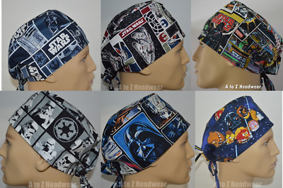 STAR WARS Characters Collection Unisex Surgical Scrub Hat Chemo Cap