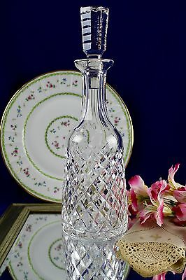 Waterford Crystal Hand Cut Crystal Wine Decanter Tyrone Templemore Criss Cross