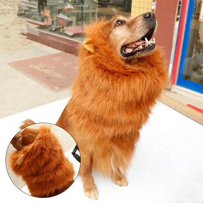 Lion hair Mane Costume for Dog Halloween for Dog Clothes Festival Fancy Dress up