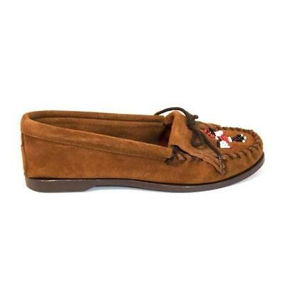 46352312951 MINNETONKA WOMEN S BROWN Leather Fringed Moccasin 532 -  49.95 ...