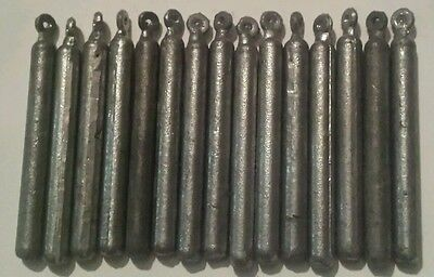 Bulk Lot Of 15 X 1oz Pencil Sinkers , Fishing Tackle , Lead Weights , Snapper