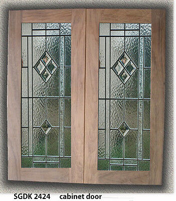 New Replacement Kitchen Doors with Genuine Leaded glass insert