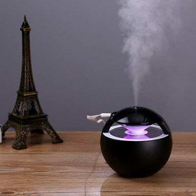 USB Portable Mini Humidifier Air Diffuser Ultrasonic Essential Mist Maker Black