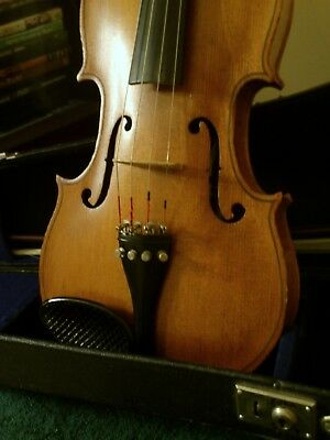 Antique Hand Carved 4/4 Full Size Violin Absolutely Beautiful! Sweet Sound WOW!!