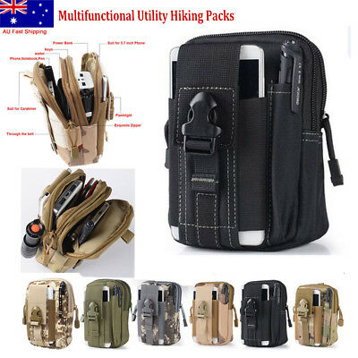Multifunctional Utility Hiking Camping Phone Tactical Belt  Pack Waist Bag Pouch