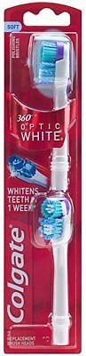 Colgate 360 optic white 2 replacement toothbrush brush heads - Purple